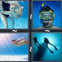 4 Pics 1 Word Levels Diving