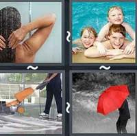 4 Pics 1 Word Wet