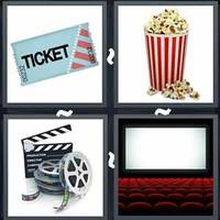 4 Pics 1 Word Levels Cinema