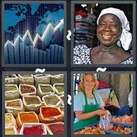 4 Pics 1 Word Levels Market