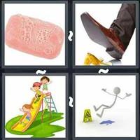 4 Pics 1 Word Slippery