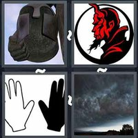 4 Pics 1 Word Sinister
