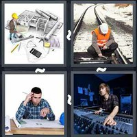 4 Pics 1 Word Engineer