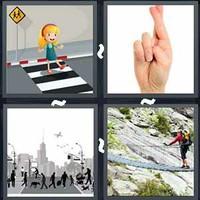 4 Pics 1 Word Crossing