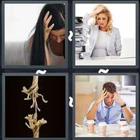 4 Pics 1 Word Stressed