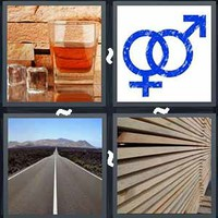 4 Pics 1 Word Straight