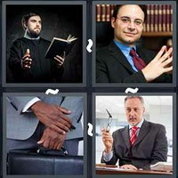 4 Pics 1 Word Minister