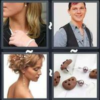 4 Pics 1 Word Earring