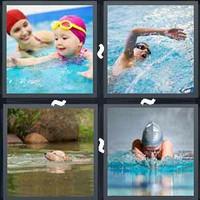 4 Pics 1 Word Swimming