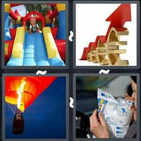 4 Pics 1 Word Inflate