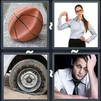 4 Pics 1 Word Deflated