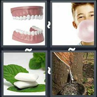 4 Pics 1 Word Levels Gum