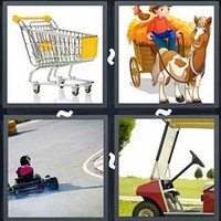 4 Pics 1 Word Cart