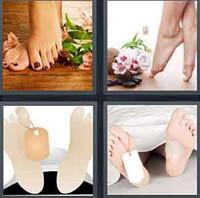 4 Pics 1 Word Toe